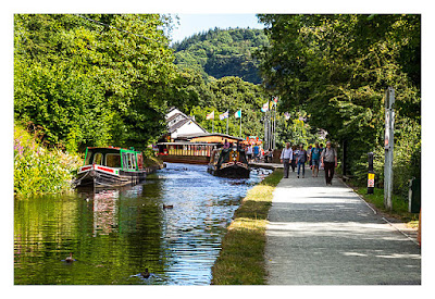 UK Mega 2016 in North Wales - Llangollen - Boot auf dem Kanal