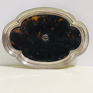 Antique Sterling Silver and Tortoiseshell Mappin & Webb Tray