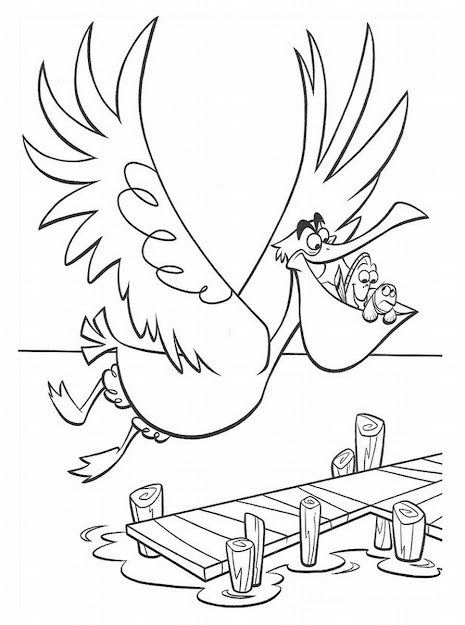 Nemo Coloring Pages To Print  Finding Nemo Coloring Pages To Print Nemo  And Pelican