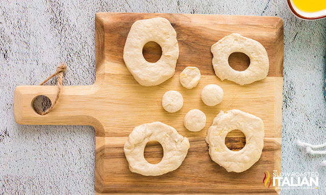air fryer biscuit donuts cut