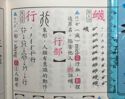Chinese Dictionary Example 1