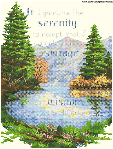 Serenity prayer chart