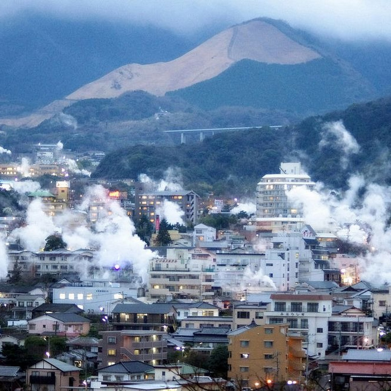 The Smoking Hot Springs of Beppu, Japan