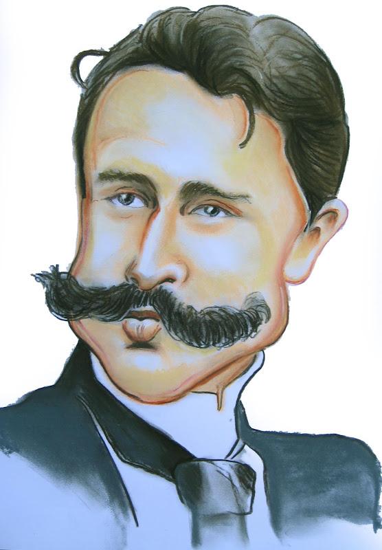 Maupassant Caricature, Guy De Maupassant