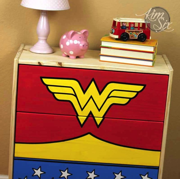 Wonder woman three drawer dresser
