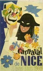 Carnaval de Nice affiche 1960