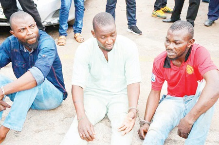 See The Three Suspected Cultists Who Allegedly Murdered LNSC Official (Photo)