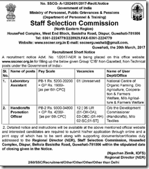 SSC NER Advertisement 2017 www.indgovtjobs.in