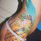 great female tattoo snake leg ribs and waist - Snake Tattoo