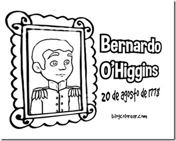 colorea dibujos de  Bernardo O'Higgins niño