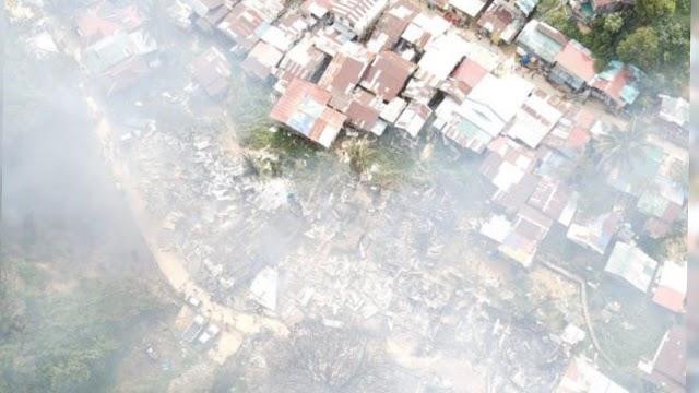 VIDEO - 23 rumah setinggan terbakar, 115 keluarga hilang tempat tinggal
