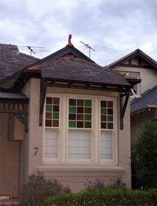 Coloured glass sash windows in Randwick NSW