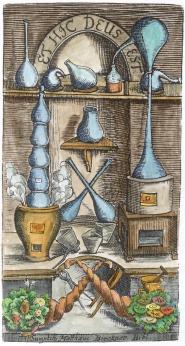 From Christoph Glasser Chimischer Wegweiser 1710, Alchemical And Hermetic Emblems 2