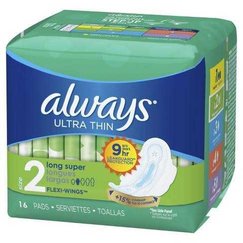 Lady's pack of the sanitary towel