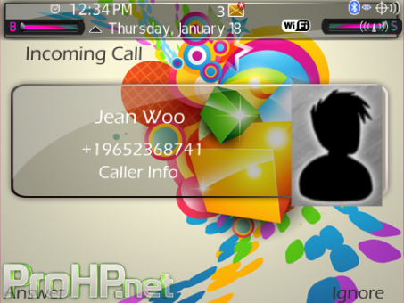 A1 Colorful Cubes Theme (9900/9930 OS7) Preview 3