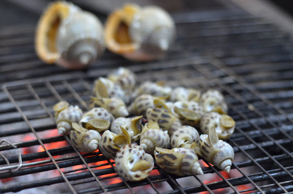 grilled snails. From Vietnam: 100 Unusual Travel Tips and a Guide to Living and Working There