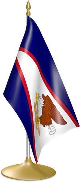 American Samoan table flags - desk flags