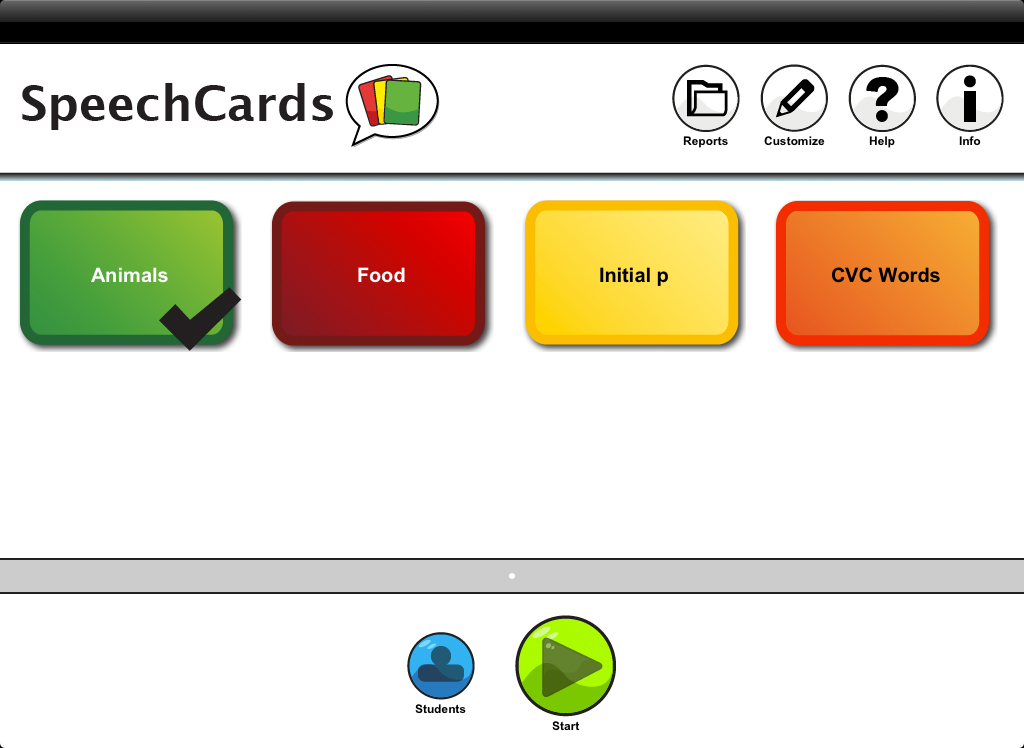 Speech Cards Main Page