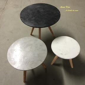 Tables - Enduit a la chaux