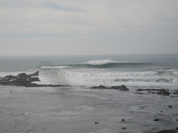 A good sized Mavericks wave.