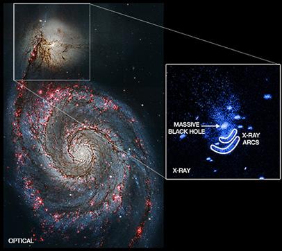 galáxias NGC 5194 e NGC 5195