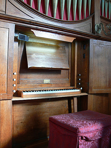 St Matthew's Anglican Church, Rokeby : console [photograph by John Maidment (27 April 2011)]