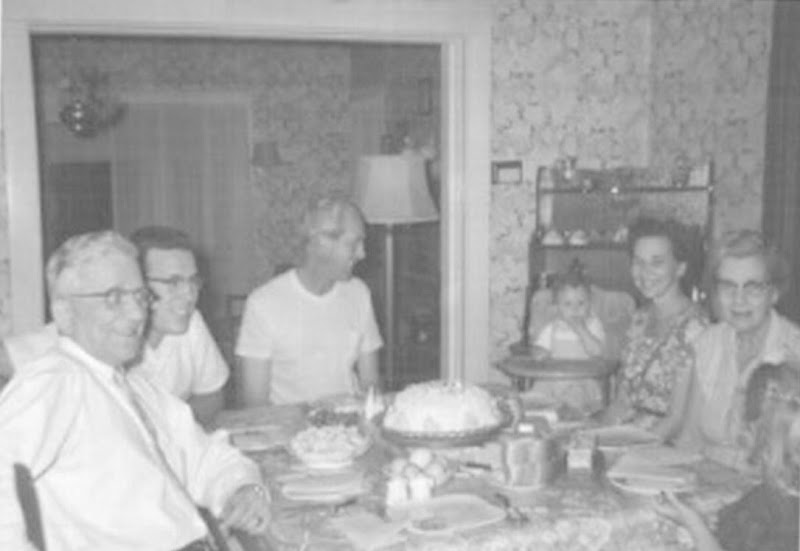 Gus, Bob, Lee, Steve, Dorothy, Henrietta and Evelyn