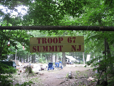 The Troop 67 encampment. Thanks Mr. Olbrich for the cool sign!