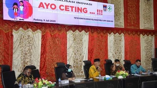 Lewat Inovasi Ayo Ceting, Padang Optimis Menuju Top 45 Nasional Inovasi Pelayanan Publik 2020.