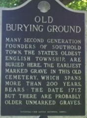 old buring ground marker