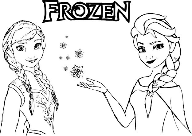 Anna And Elsa Free Printable Frozen Coloring Pages Frozen Anna Elsa Magic  Coloring