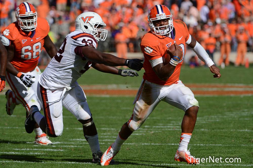 Clemson vs. Virginia Tech Photos - 2012, Football, Tajh Boyd, Virginia Tech