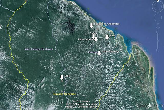 Séjour en Guyane de novembre 2011 : principales étapes