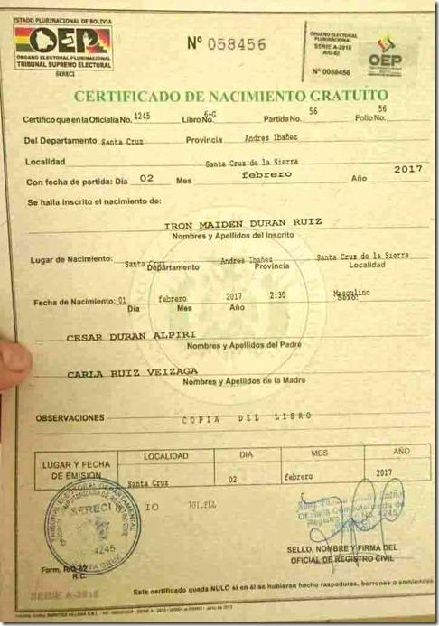 Iron Maiden boliviano