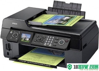 How to reset flashing lights for Epson CX9300F printer