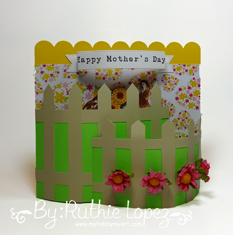 Latinas Arts and Crafts - The Cuttiing Cafe - Make it Crafty - Bendi Card - Ruthie Lopez 5