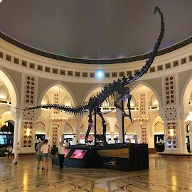 dubai mall by Patricia Dias - City,  Street & Park  Markets & Shops ( travel photography, mall, dinosaur, travel, dubai )