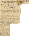 Robin R. MacDonald newspaper clippings