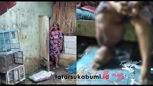 Penderita Kaki Gajah huni Rutilahu 2 meter di Cicurug Sukabumi // Foto : Dian Syahputra Pasi