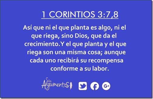 1corintios 3.7,8