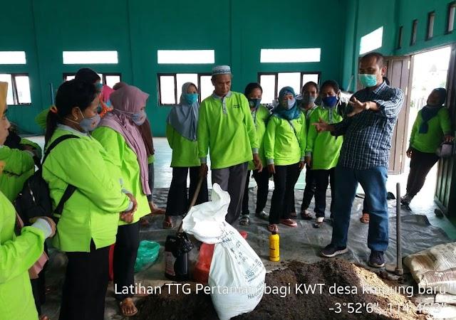 Gandeng PPL, Desa Kampung Baru Gelar Bimtek Teknologi Tepat Guna