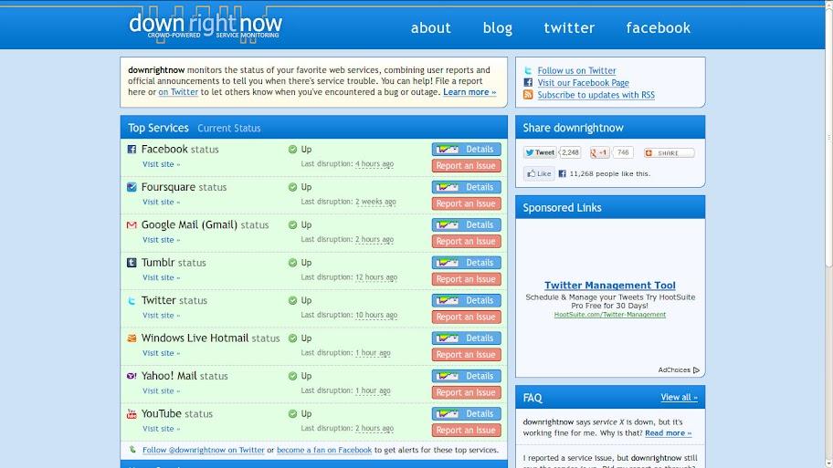 Downrightnow Homepage
