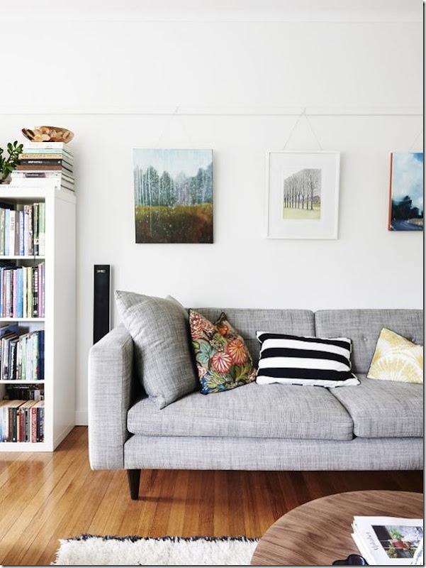 10 idee per abbinare il divano grigio case e interni - Divano bianco e grigio ...