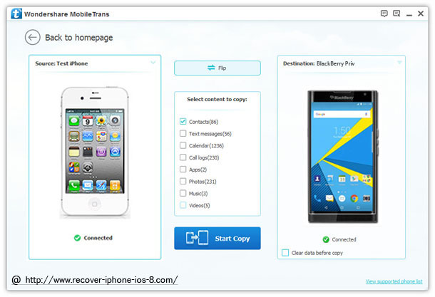 How to Transfer Data Contacts from iPhone to BlackBerry Priv