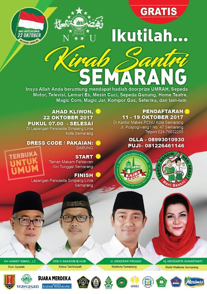 Kirab Santri Semarang Berhadiah Umroh dan Sepeda Motor