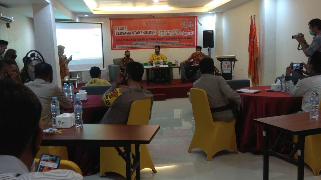 Bawaslu Soppeng Gelar Rakor Bersama Stakeholder