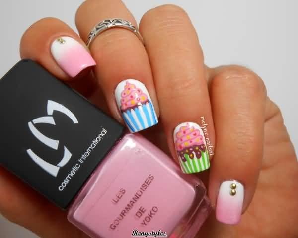 Cupcake nail art ideas Newest Look