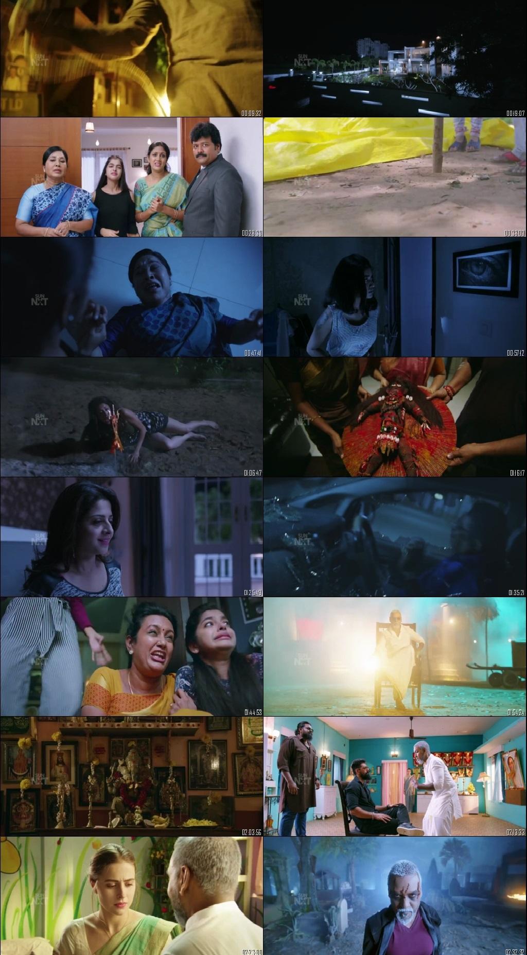 Screen Shot Of Kanchana 3 2019 300MB Full Movie Hindi Dubbed Free Download 720P HDRip HEVC