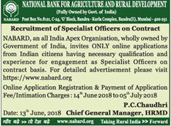 NABARD Specialist Officers 2018 www.indgovtjobs.in