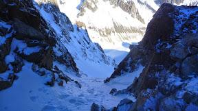 La sortie du Col Est du Pelvoux